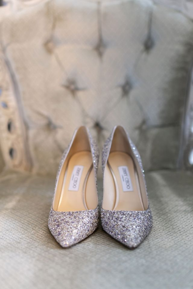 The wedding shoes by Jimmy Choo