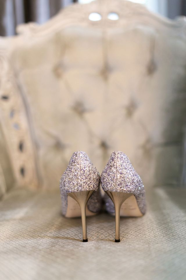 Perfect sparkling Jimmy Choo wedding shoes