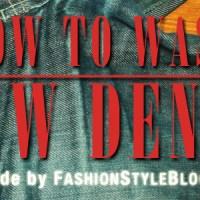 How to wash raw denim jeans