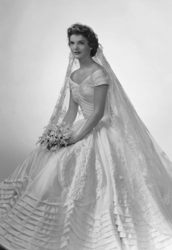 all of her hard work and dedication paid off when she was called to design the wedding dress for jacqueline bouvier in 1953 where she married john f