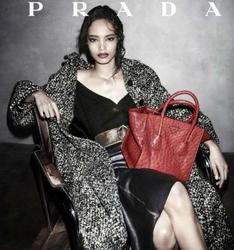 Malaika Firth became the newest face of Prada in a Fall/Winter 2013