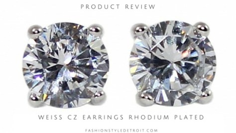 Weiss CZ Rhodium Plated Earring Review