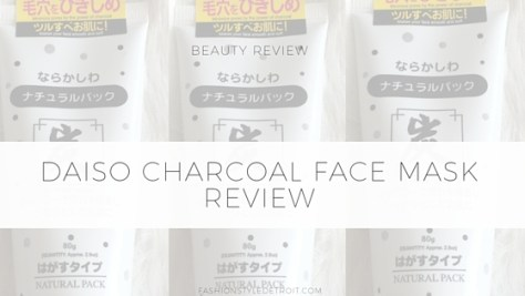 Daiso Charcoal FaceMask Review