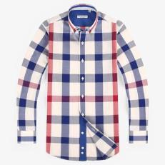 MEN DRESS SHIRTS 100% COTTON PLAID SHIRT MEN PLUS SHIRT SIZE