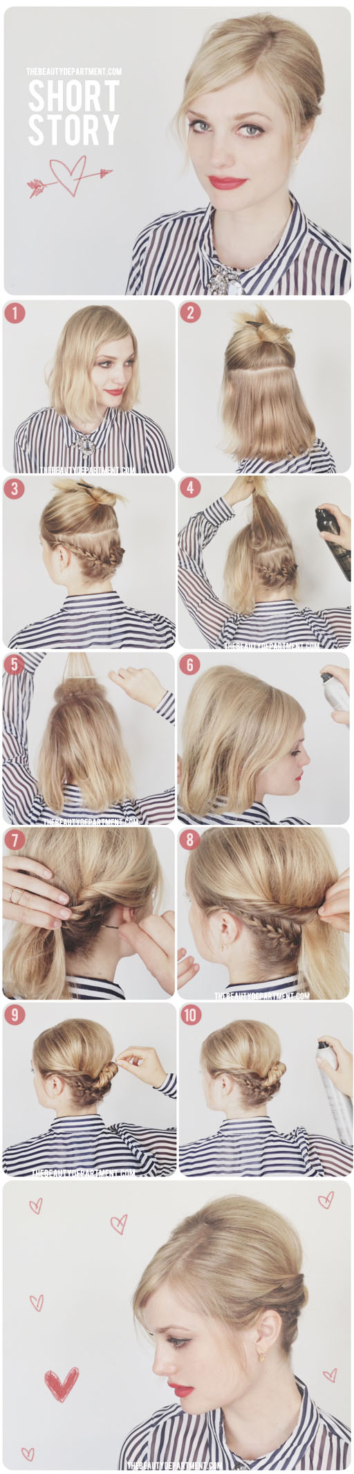 hair tutorials for short hair - fashionsy