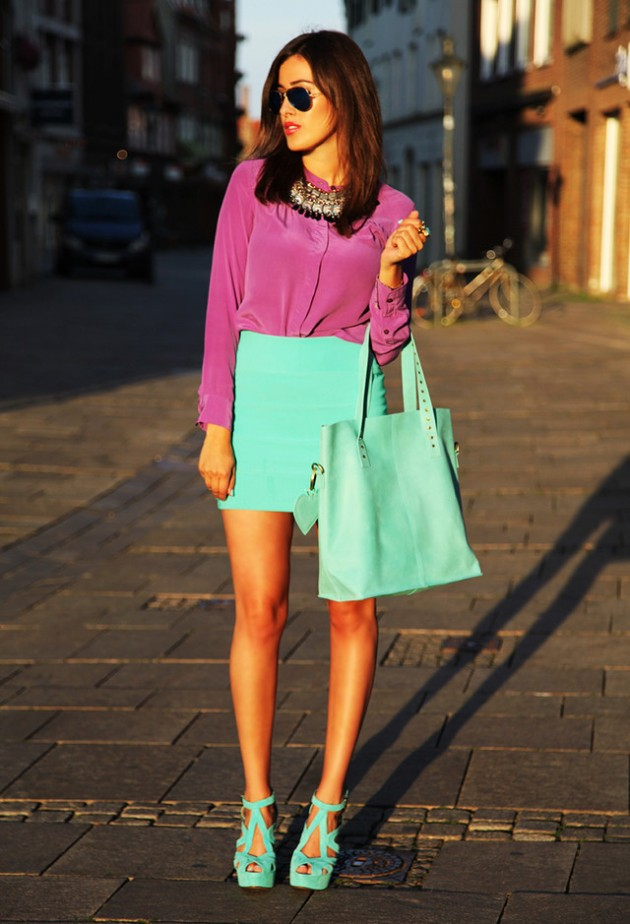 Spring/Summer Trend   Mint Outfit Ideas