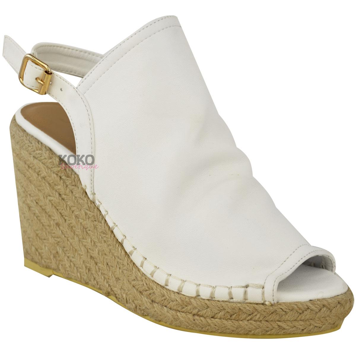 Low Cork Wedge Heel Sandals