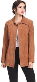 Suede Leather Car Coat