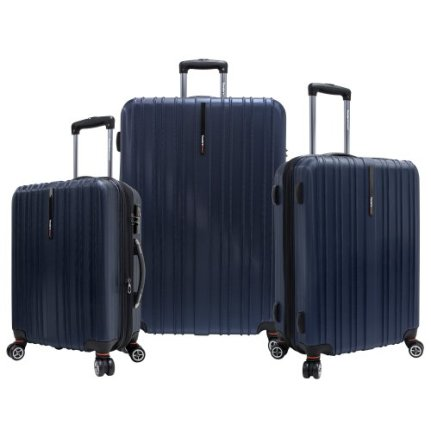 Travelers Choice Tasmania 3 Piece Luggage Set, Navy, Large
