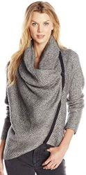 8 Spring Cardigan Sweater Paris T Tahari Women's Kyra Zip Front Cowl Neck Sweater