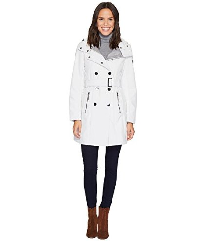 2 Warm Stylish Winter Coats Calvin Klein Softshell Double Breasted With Belt & Detachable Hood