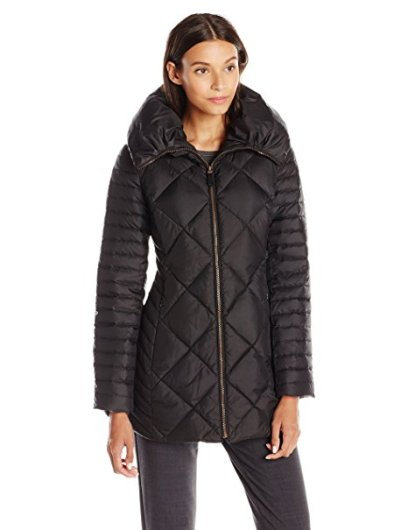 5 Warm Stylish Winter Coats Lark & Ro Women's 3:4-Length Quilted Coat