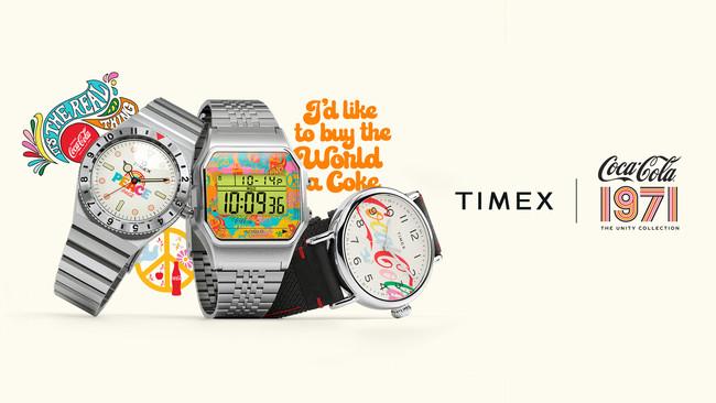 多様性を謳ったコカ・コーラの伝説的テレビCM「ヒルトップ」放映50周年を祝し『タイメックス × コカ・コーラ コラボレーション ウォッチ』3種を10月20日(水)に発売します