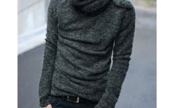Cowl Neck Solid Pullovers