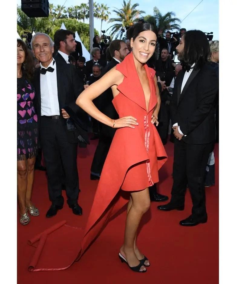 quand le tapis rouge se recycle en robe