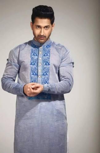 Eid Kurta Designs For Men By Wajahat Mansoor 2015 2