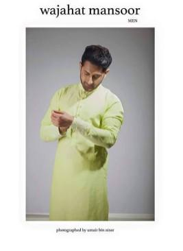 Eid Kurta Designs For Men By Wajahat Mansoor 2015 5