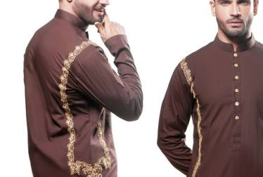 Eid Kurta Designs For Men By Wajahat Mansoor 2015