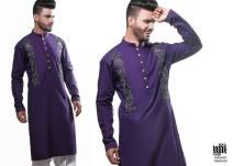 Eid Kurta Designs For Men By Wajahat Mansoor 2015 9