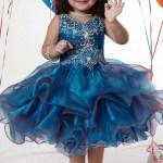 Little Girls Stylish Party Wear Dresses Pics Of 2015 15