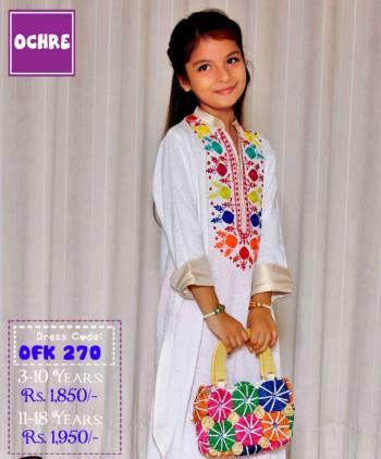 Summer Eid Kids Wear Dresses By Ochre 2015 12