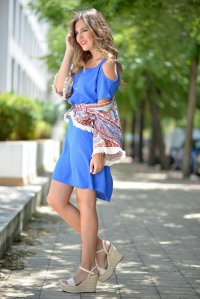 Trend Of Wearing Wedge Sandals Footwear With Summer Outfits 2015