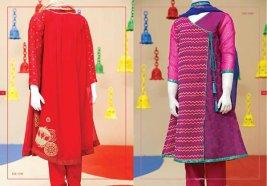 Angrakha Style Eid Kids Wear Dresses By Junaid Jamshed 2015 4