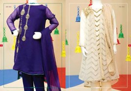 Angrakha Style Eid Kids Wear Dresses By Junaid Jamshed 2015 5