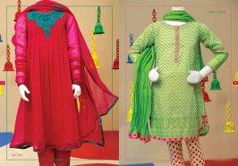 Angrakha Style Eid Kids Wear Dresses By Junaid Jamshed 2015 8