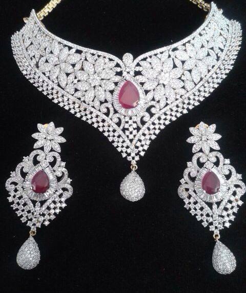 Elegant Diamond Jewellery Set Designs For 2015-16 Parites