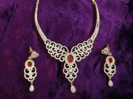 Elegant Diamond Jewellery Set Designs For 2015-16 Parites 3