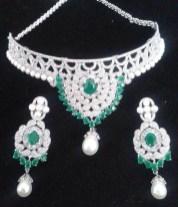Elegant Diamond Jewellery Set Designs For 2015-16 Parites 4