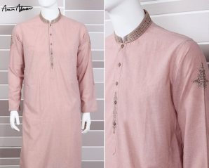 Mid Summer Kurta Designs For Men By Amir Adnan 2015 15