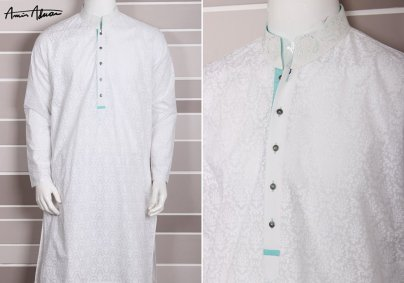 Mid Summer Kurta Designs For Men By Amir Adnan 2015 7