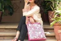 Eid Handbags With Dress By Gul Ahmed 2015-16