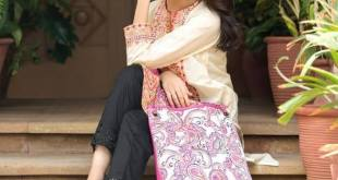 Eid Handbags With Dress By Gul Ahmed 2015-16