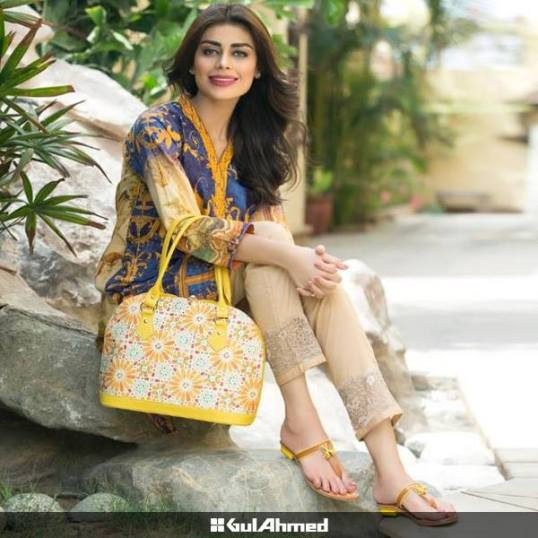 Eid Handbags With Dress By Gul Ahmed 2015-16 12