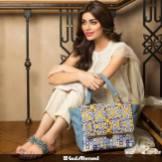 sleeveless kameez with handbag