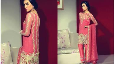 Eid Ul Azha Chiffon Embroidered Dresses By Rungrez 2015-16