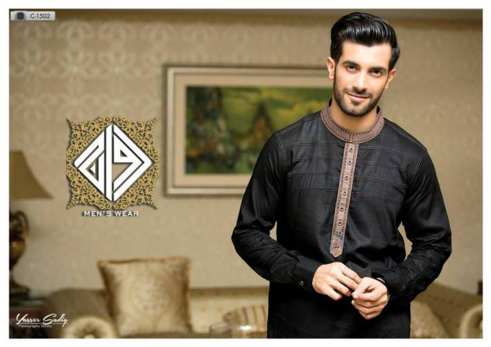 black kurta on eid