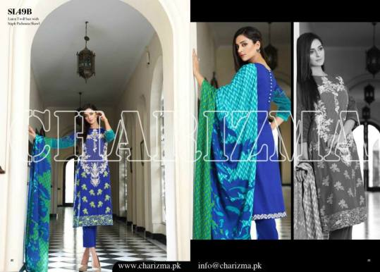 Embroidered Linen Eid Wear Dresses By Charizma 2015-16 10