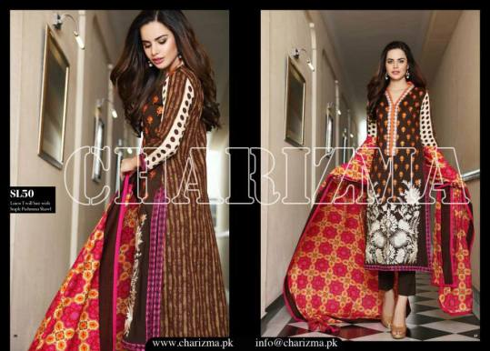 Embroidered Linen Eid Wear Dresses By Charizma 2015-16 25