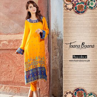 Fall Shalwar Kameez Designs For Women By Taana Baana 2015-16