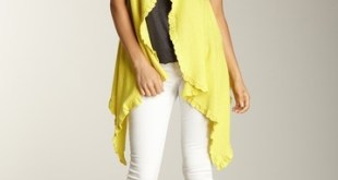 Jacket Style Cardigan Sweater Designs For Girls 2015-16