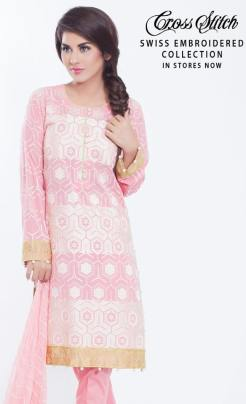 Swiss Embroidered Eid Wear By Cross Stitch 2015-16 6