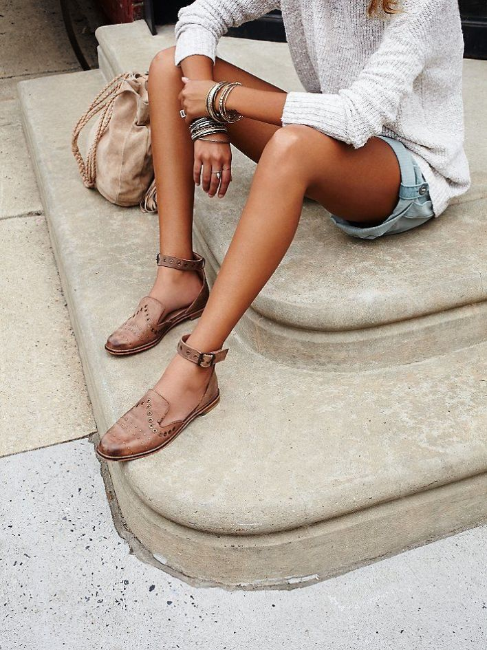 Ankle Strap Leather Loafer