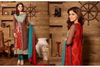 Cardinal Chiffon Dresses By Tawakal Fabrics 2015-16