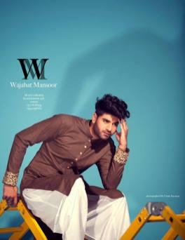 Casual Kurta Winter Designs By Wajahat Mansoor 2015-16