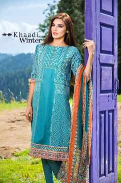 Embroidered Cotton Polyester Shalwar Kameez By Khaadi 2015 11