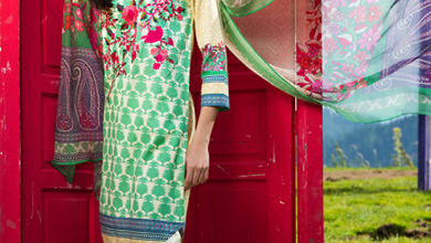 Embroidered Cotton Polyester Shalwar Kameez By Khaadi 2015